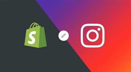 Instagram and shopify logos.